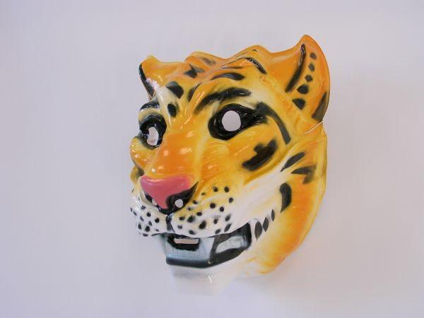 TIGER Maske Plastik für Erwachsene