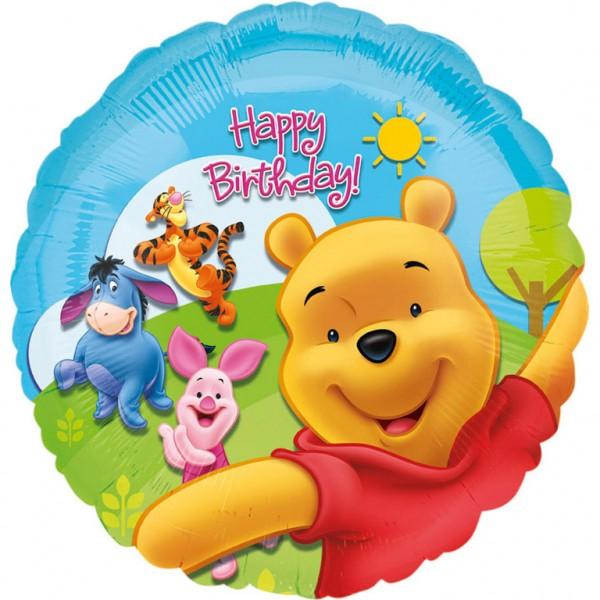 Winnie The Pooth Happy Birthday Ballon