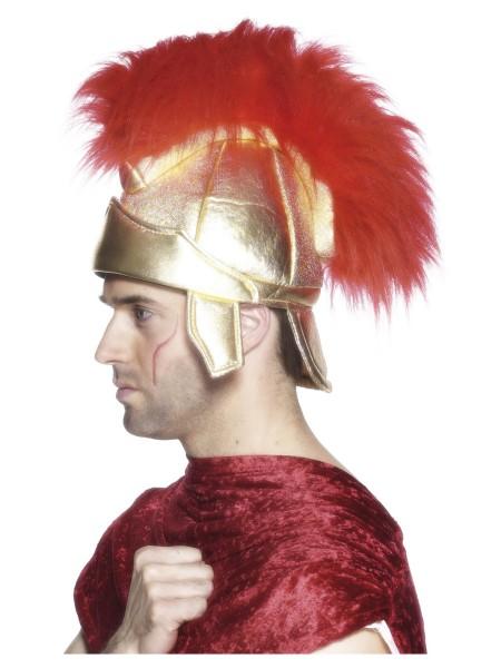 Römer Helm aus textilem Material gold