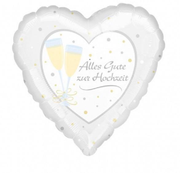 Herzballon Alles Gute zur Hochzeit