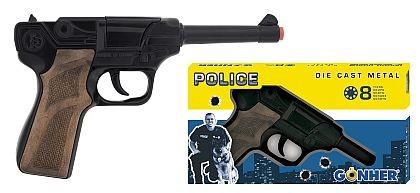 Polizei Pistole Nr.124 8 Schuss Metall