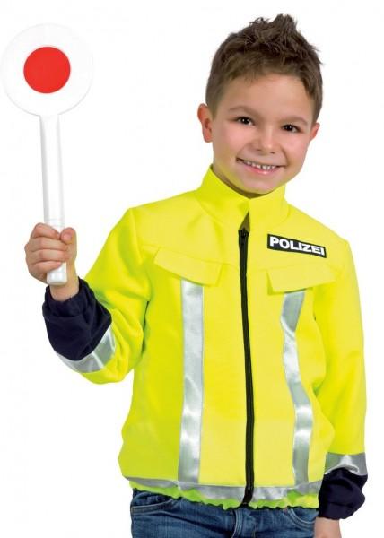 Kinder Polizei Jacke neon-gelb Größe 104
