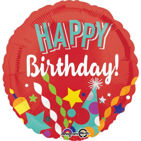 Roter Happy Birthday Luftballon