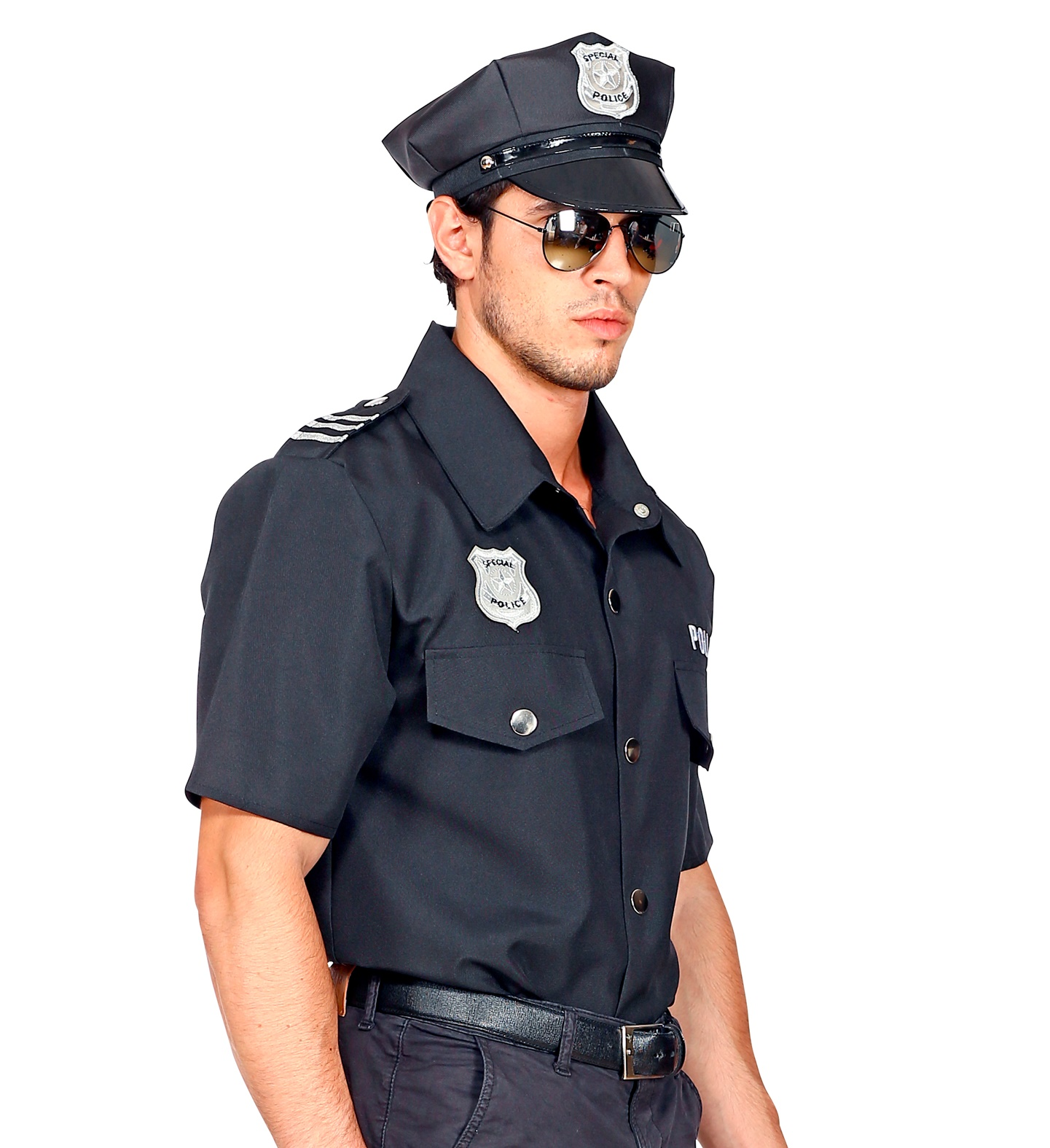 Polizei Hemd Blau