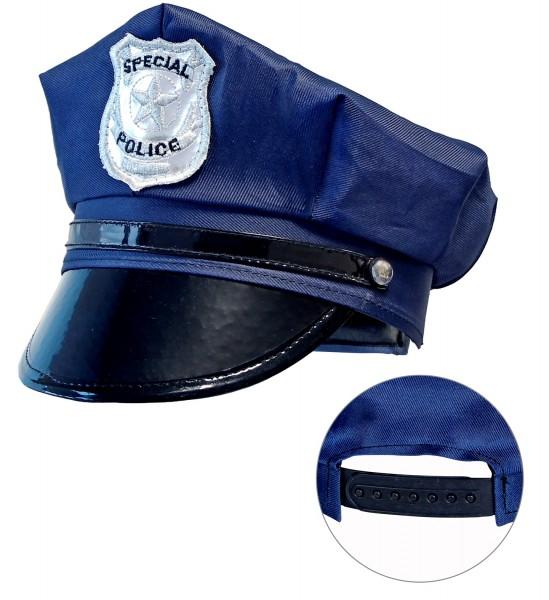 Polizei Mütze für Kinder blau