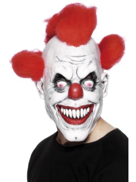 Horror Clown Maske mit Haar