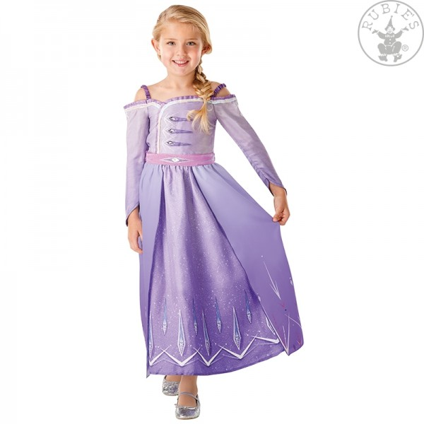 Elsa Frozen 2 Prologue Kleid LARGE für Kinder lila