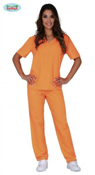 Orange Häftlingskleidung für Damen 38-40