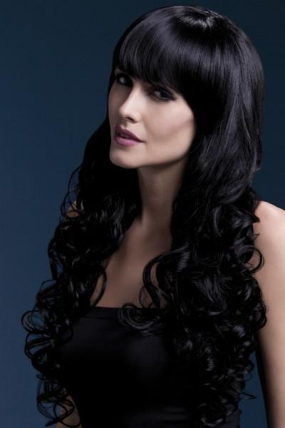 Isabelle langgelockte Perücke schwarz Premium Qualität