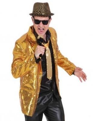 Goldene Pailletten Jacke Glitter Größe 56/58