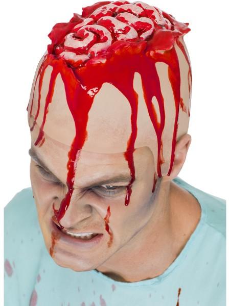 Glatze mit offenem Hirn aus Latex