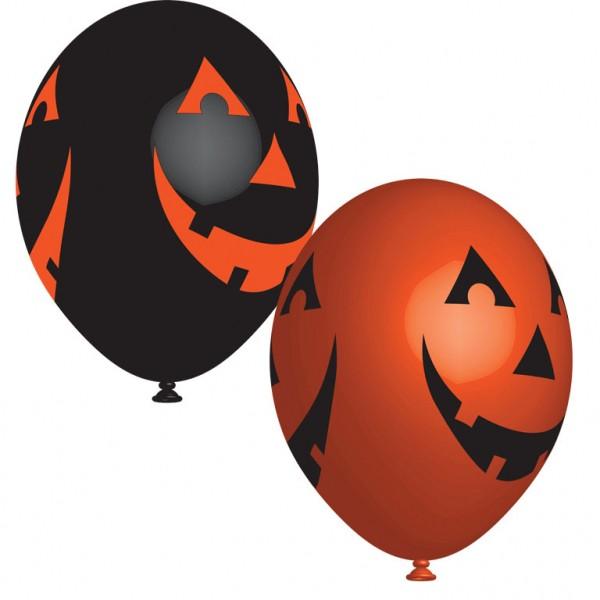 6 Stück Luftballon mit Halloween Motiv