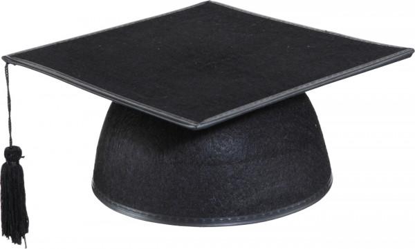 Absolventen Studenten Hut schwarz aus Filz