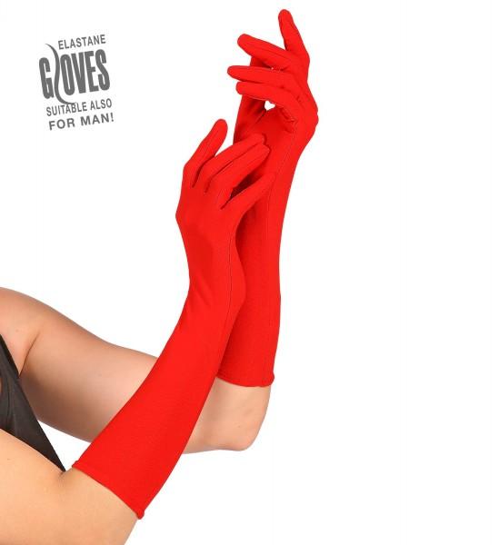 Lange rote Handschuhe ca.37cm lang