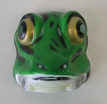 FROSCH Maske aus Plastik für Erwachsene