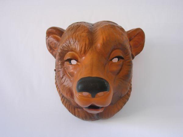 BÄR Maske braun Plastik für Erwachsene