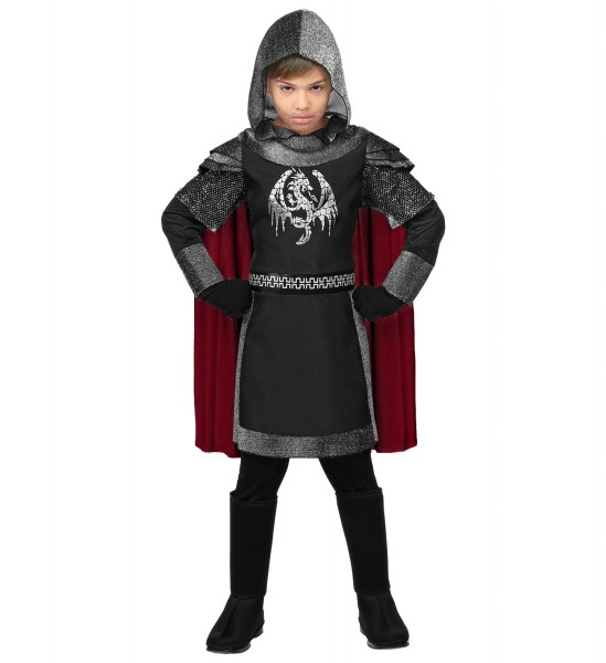 Dunkler Ritter Kostüm für Kinder Größe 140