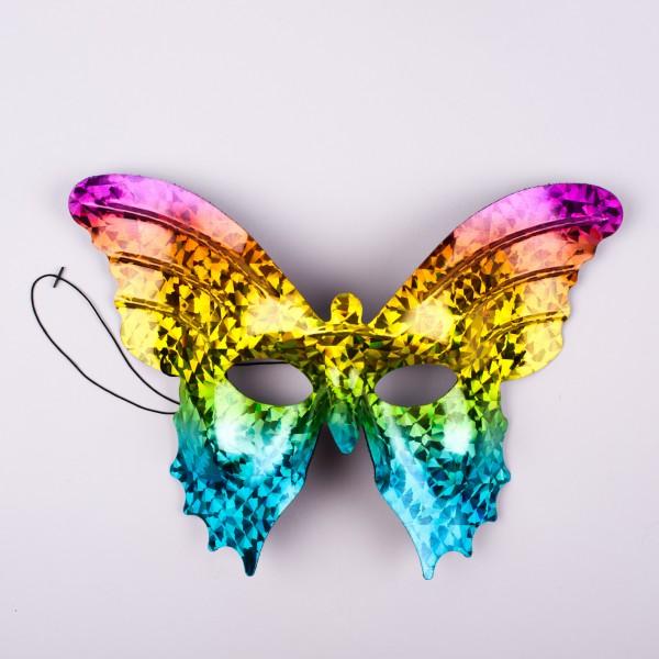 Schmetterling Maske Regenbogefarben