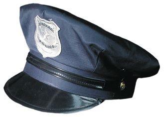 Amerikanische Polizei Kappe blau verstellbar