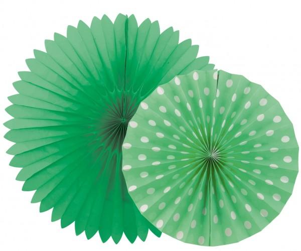 Fächerlampion SET 2 Stück grün
