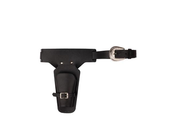 Western Gürtel schwarz mit Pistolentaschen