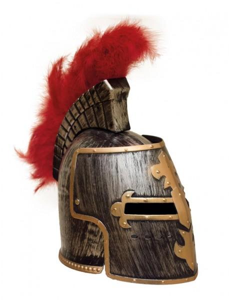 Römer Helm - Ritter Helm mit rotem Federn
