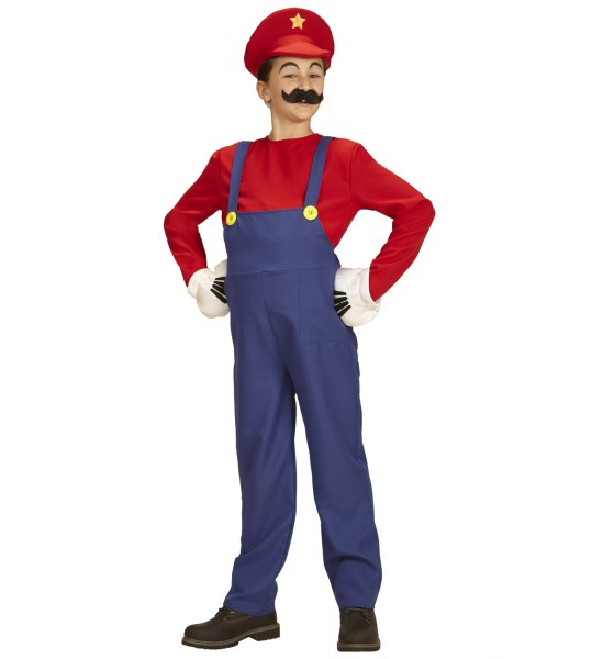 Mario Kostüm für Kinder Größe128