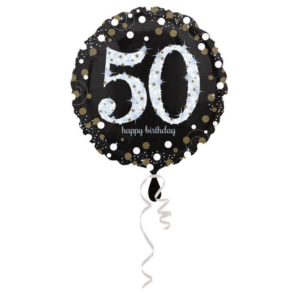 Glitzer Ballon zum 50er