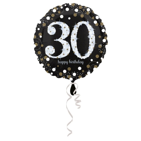 Glitzer Ballon zum 30er