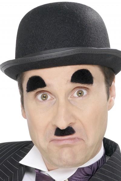Charlie Chaplin Bart schwarz mit Augenbrauen