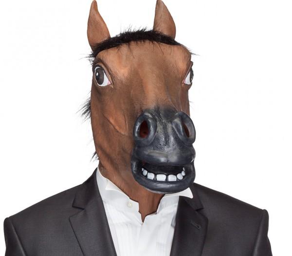 Gummimaske Pferd braun