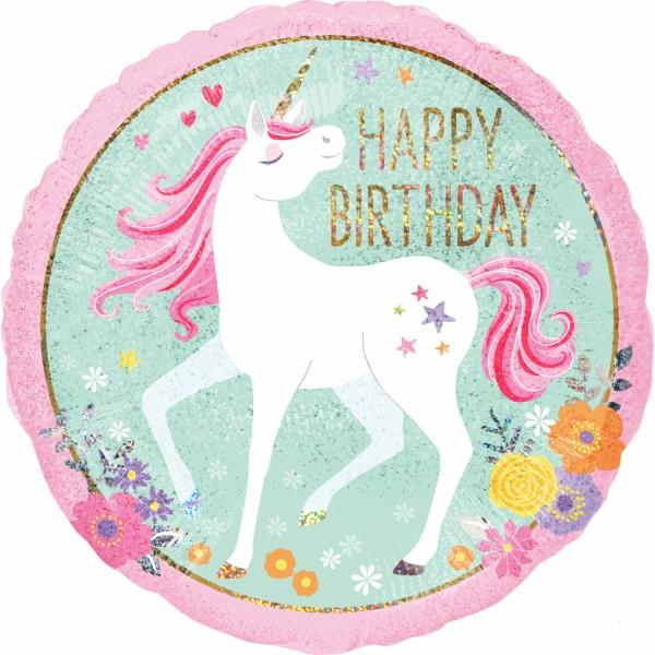 Happy Birthday Einhorn Ballon