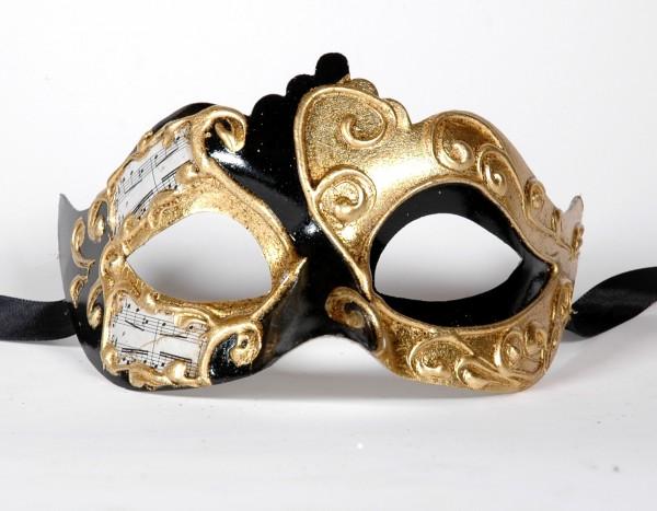 Venezianische Maske schwarz-gold