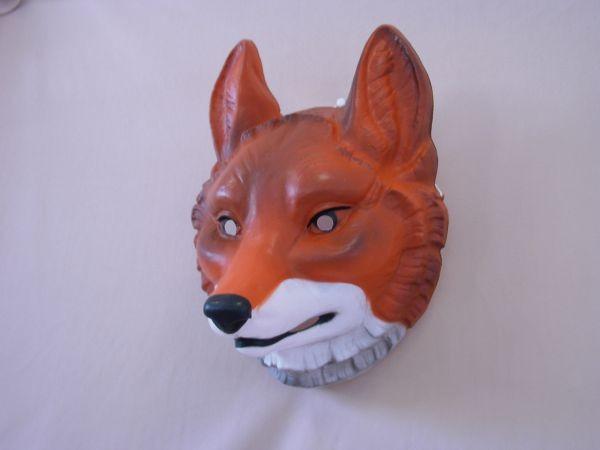 FUCHS Maske Plastik für Erwachsene