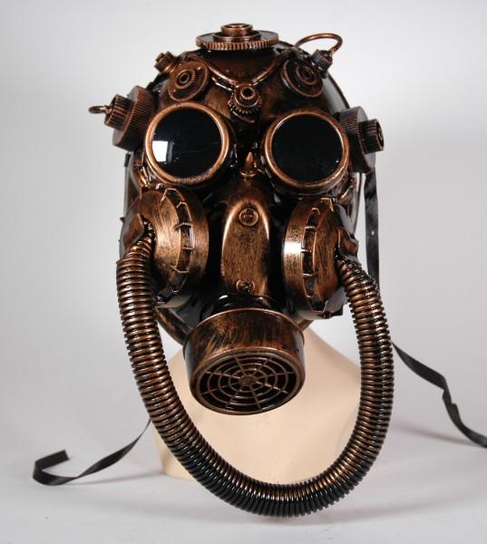 Große Steampunk Maske bronze-schwarz