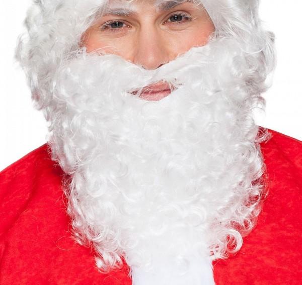 Weihnachtsmann Bart mittel weiss