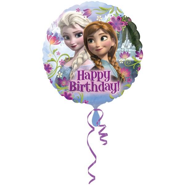 Anna & Elsa Luftballon Happy Birthday