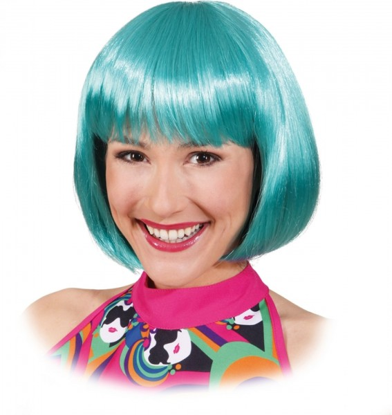 Pagenkopf Perücke Sexy Lola mintgrün