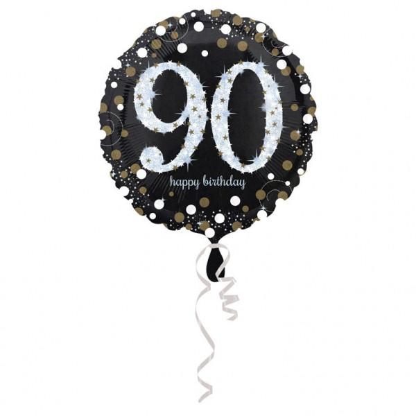 Glitzer Ballon zum 90er