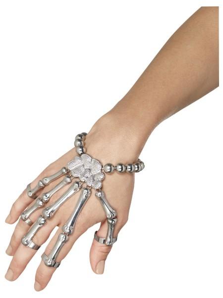 Armband Skelett Hand silber