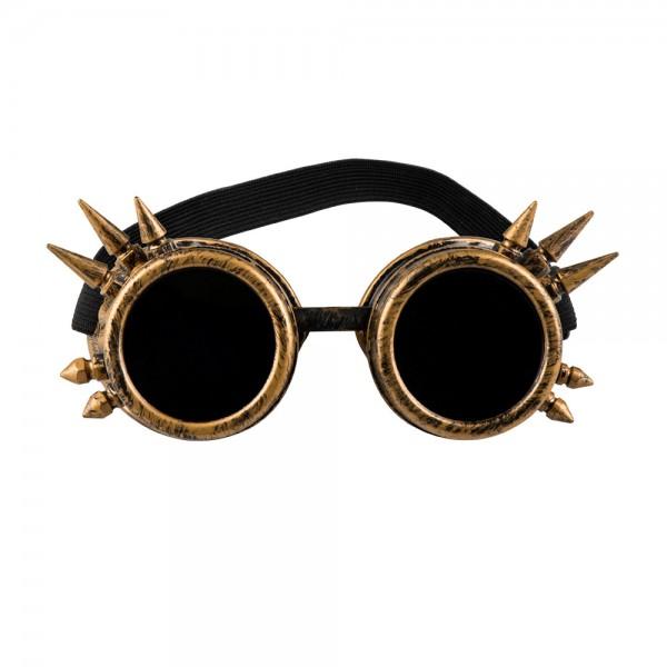 Steampunk Brille kupferfarben