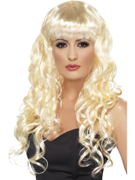 Langhaar Perücke gelockt blond SIREN