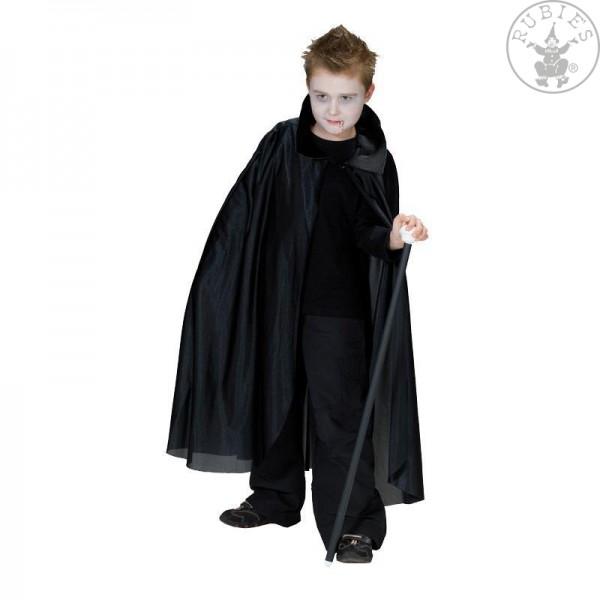 Dracula Umhang schwarz mit Kragen Größe 128