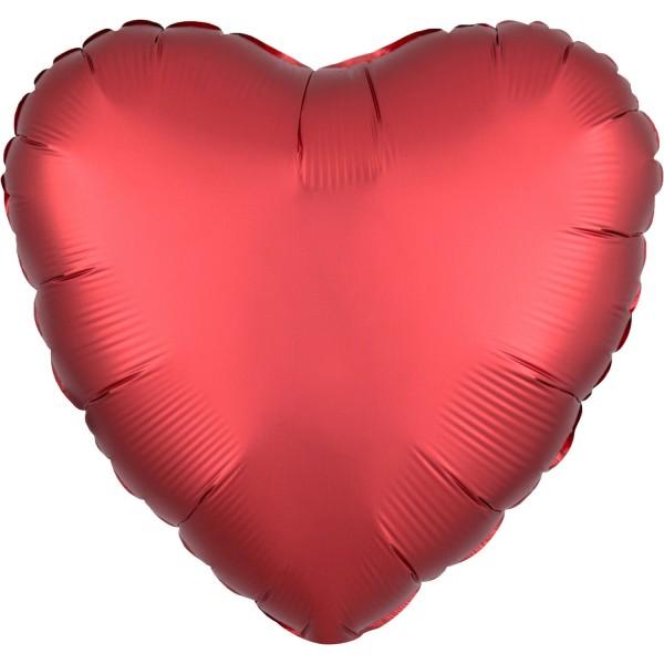 Herz Luftballon satin-rot