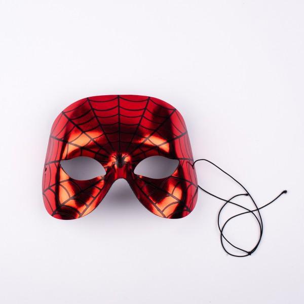 Halbmaske SPIDER rot-schwarz