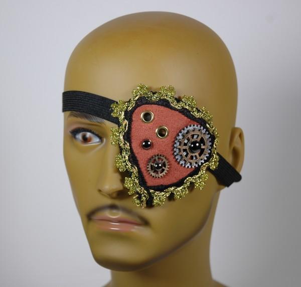 Augenklappe Steampunk Motiv