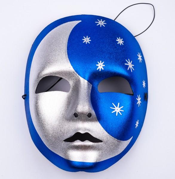 Vollmaske LUNA blau/silber