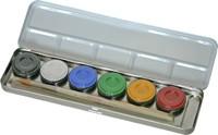 6 Farben Bodypainting Malkasten metall