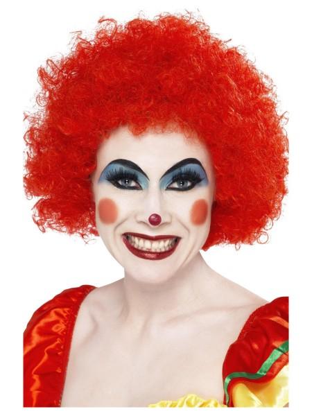 Clown Perücke Locken rot