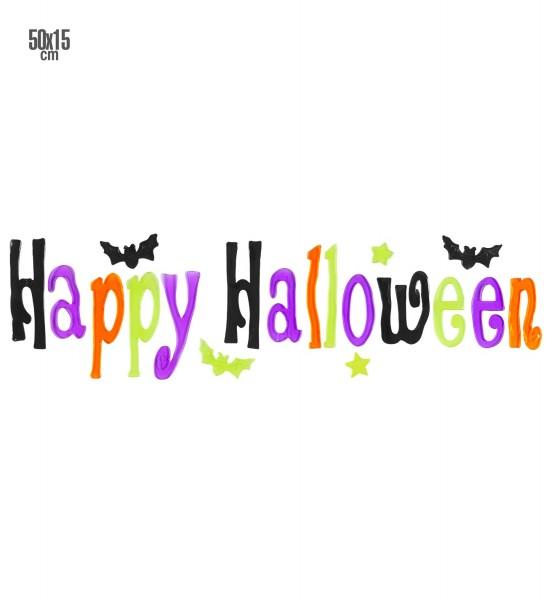 Happy Halloween Gel Fensterbild 50x15cm